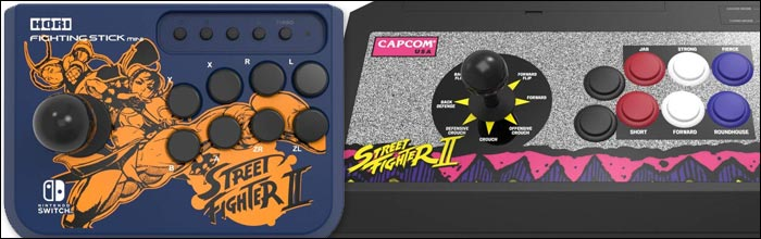 Hori and Capcom team up to bring a new and classic set of