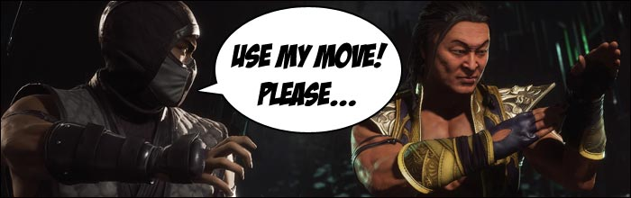 None of Shang Tsung's awesome ninja special moves in Mortal