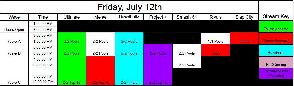 Low Tier City 7 Event Schedule 1 out of 3 image gallery