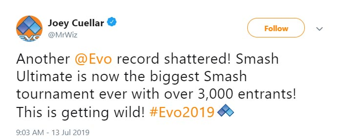 Smash Ultimate breaks EVO record 1 out of 1 image gallery