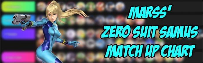 Marss Releases His Zero Suit Samus Match Up Chart For Super
