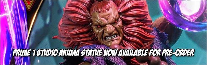 Premium Street Fighter 5 Akuma statue by Prime 1 Studio now