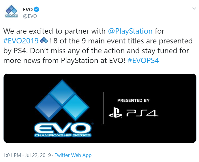 EVO PlayStation partners 1 out of 1 image gallery