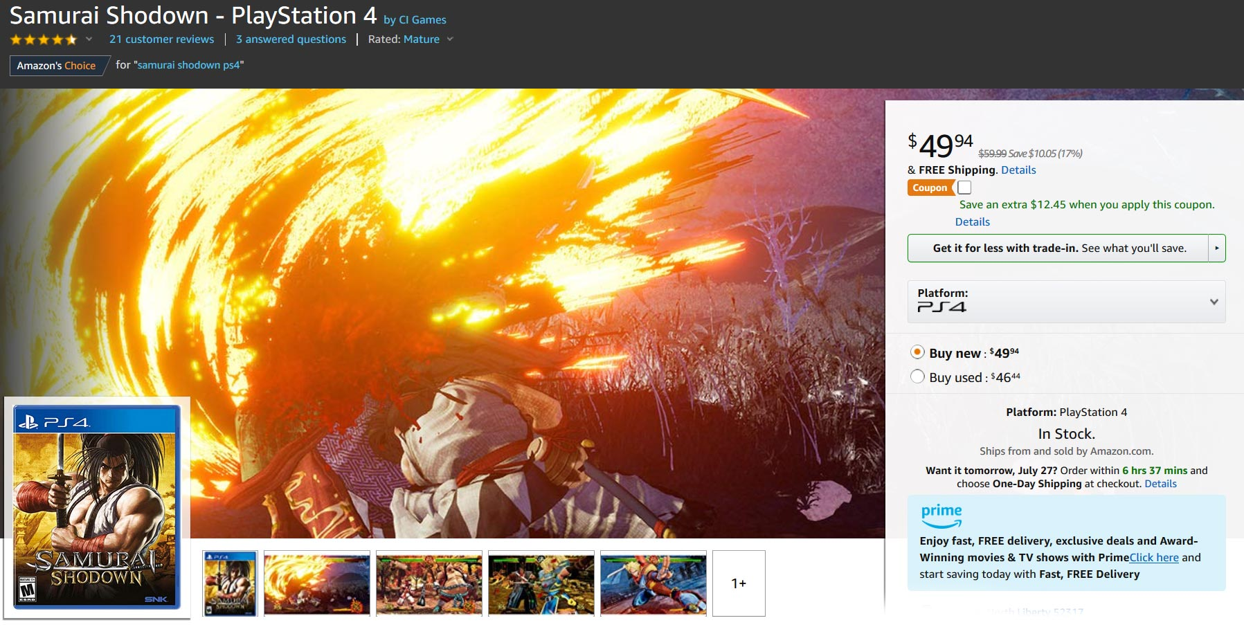 Samurai Shodown Amazon 3 out of 3 image gallery