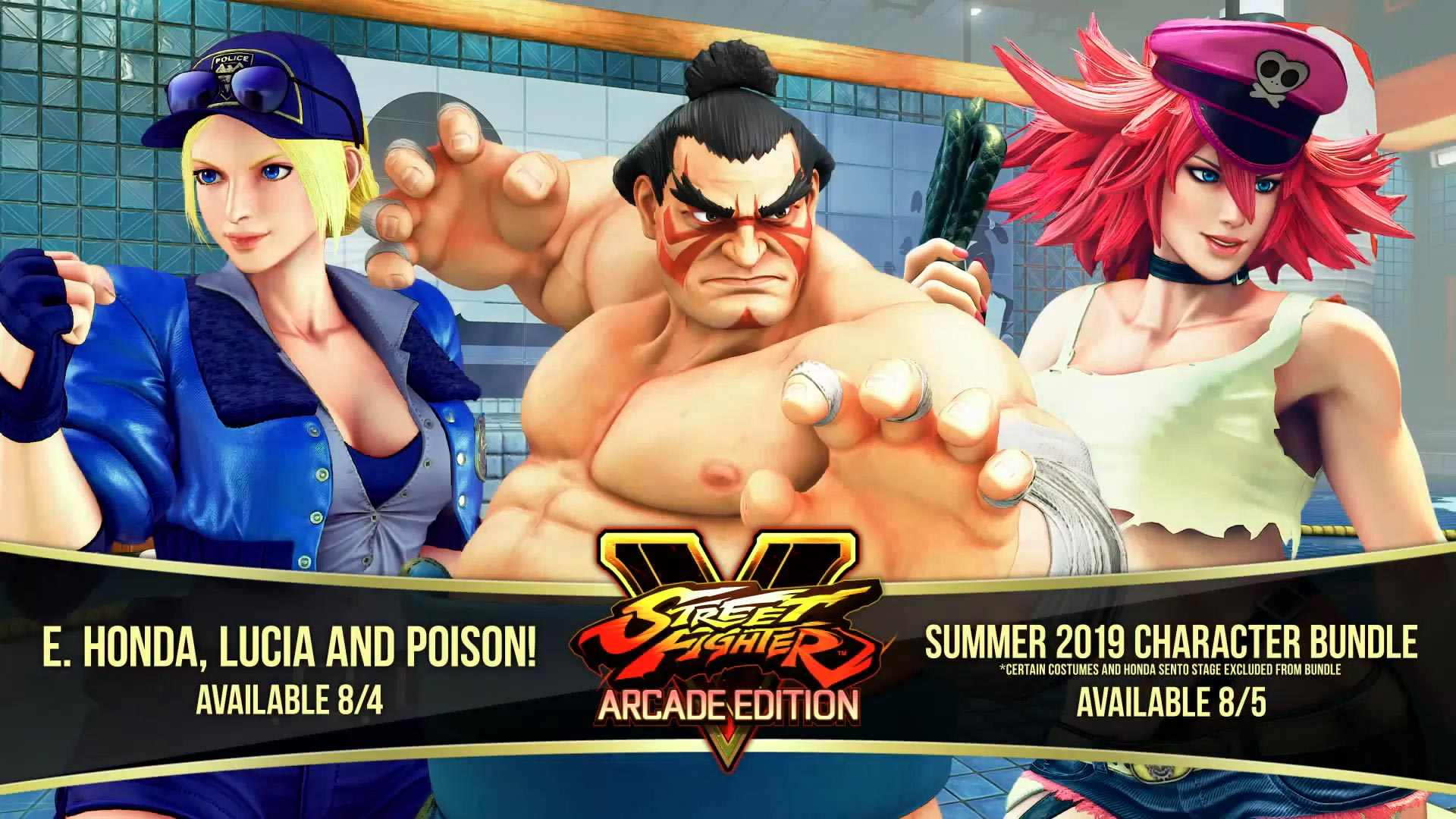 Street Fighter 5 leaked gallery of E. Honda, Lucia and Poison 1 out of 35 image gallery