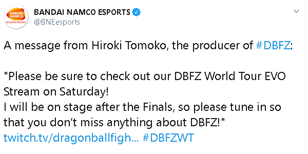 Tomoko Hiroki's message to Dragon Ball FighterZ fans 1 out of 2 image gallery
