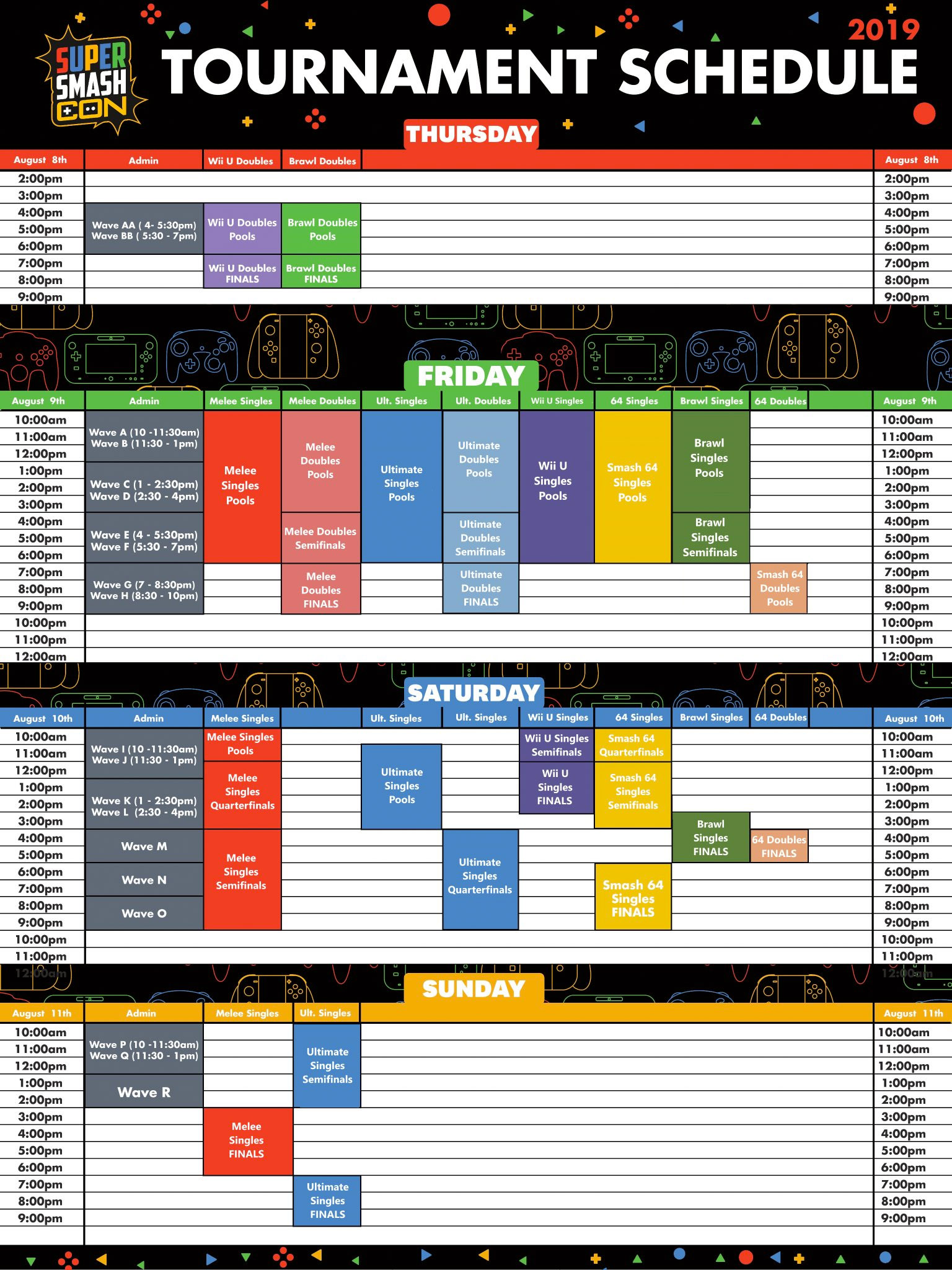 Super Smash Con 2019 Event Schedule 1 out of 1 image gallery