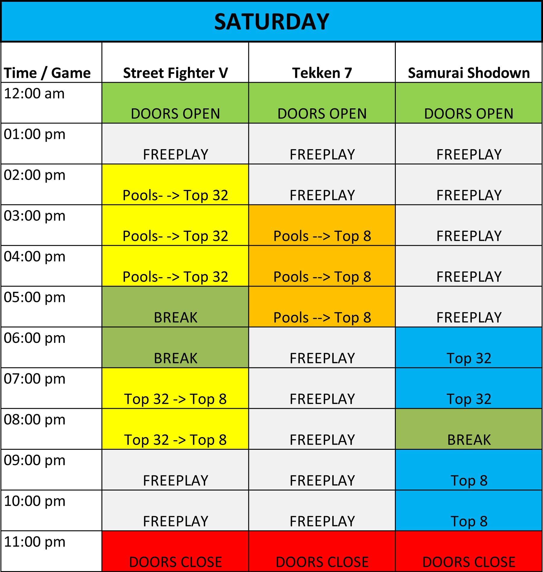 NRW Fight Club Event Schedule 1 out of 2 image gallery