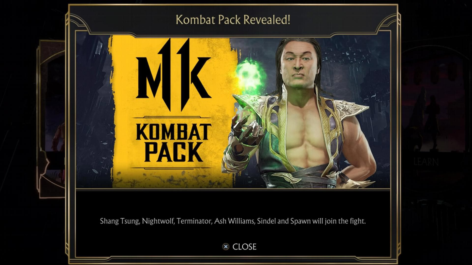 Potential in-game message error leaks another Mortal Kombat 11 DLC characters 1 out of 3 image gallery