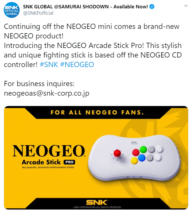 NeoGeo Arcade Stick 2 out of 2 image gallery