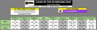 Clash of the Olympians Event Schedule image #1