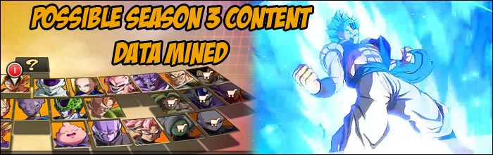 Updated Character Select Screen And Alleged Data Mining Discovery Point To A Possible Third Season Of Dlc For Dragon Ball Fighterz