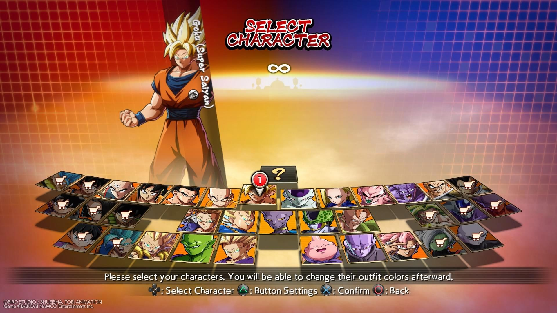 DBFZ Char Sel 1 out of 2 image gallery