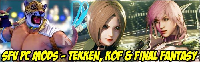Alex transforms into Tekken's King, Poison turns into SNK's