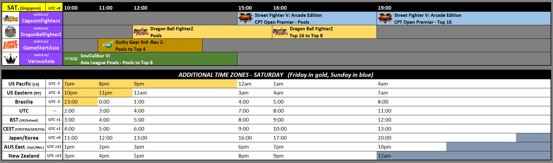 SEA Major 2019 Event Schedule 1 out of 2 image gallery