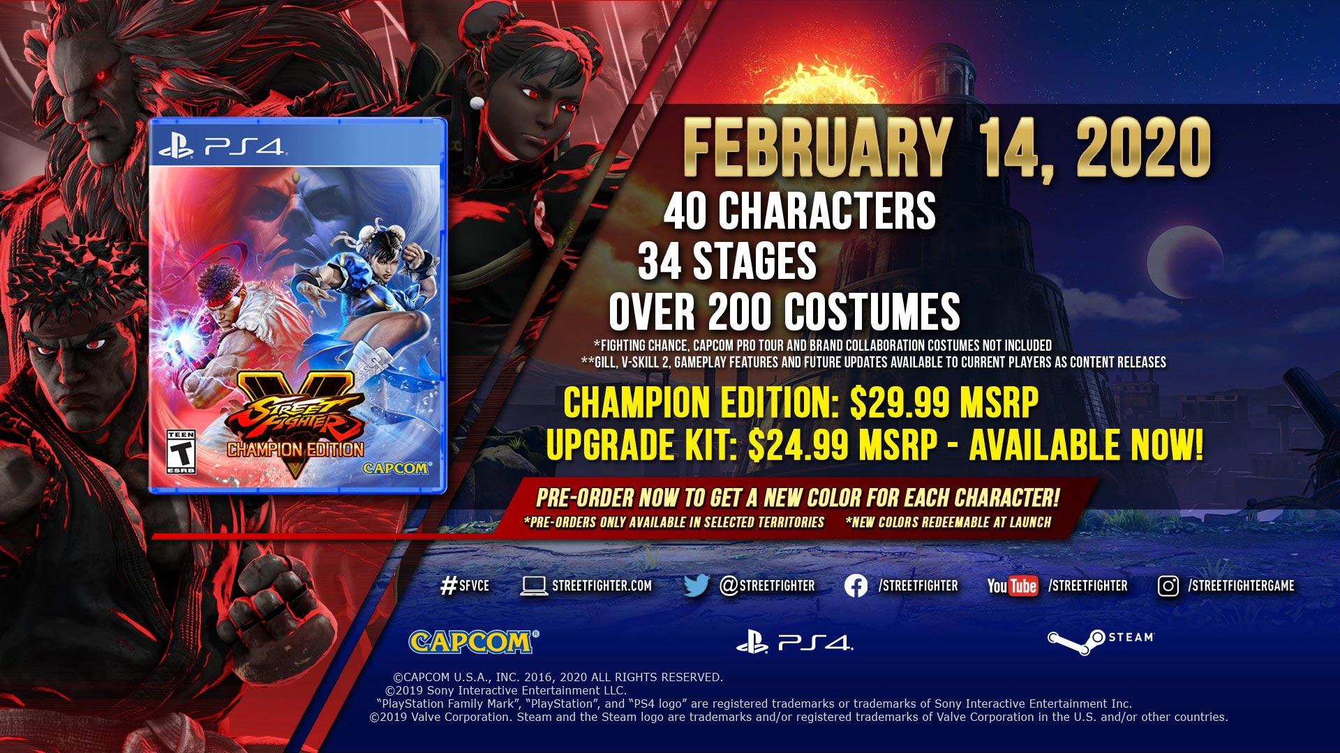 Street Fighter V přinese Champion Edition a Gilla