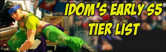 Capcom Cup Champion Idom Shares His Season 5 Tier List For Street