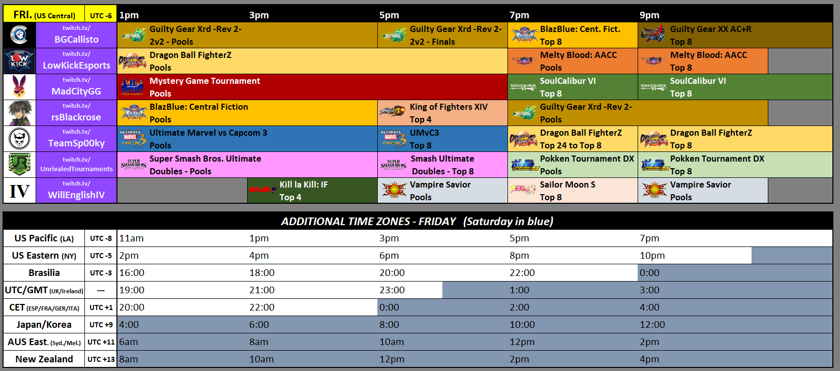 Frosty Faustings XII Event Schedule 1 out of 2 image gallery