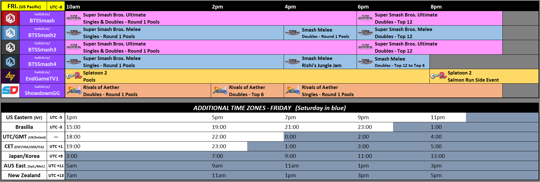 Genesis 7 Event Schedule 1 out of 3 image gallery