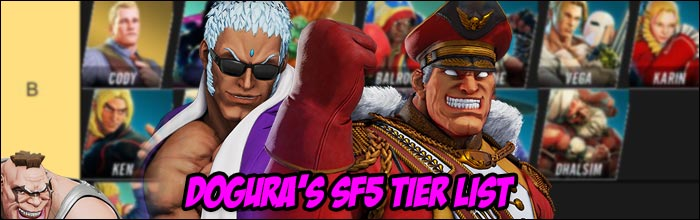 Dogura Releases His Tier List For Street Fighter 5 Champion Edition