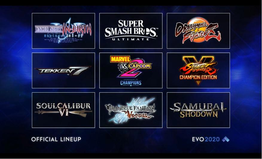 EVO 2020 Lineup 1 out of 1 image gallery