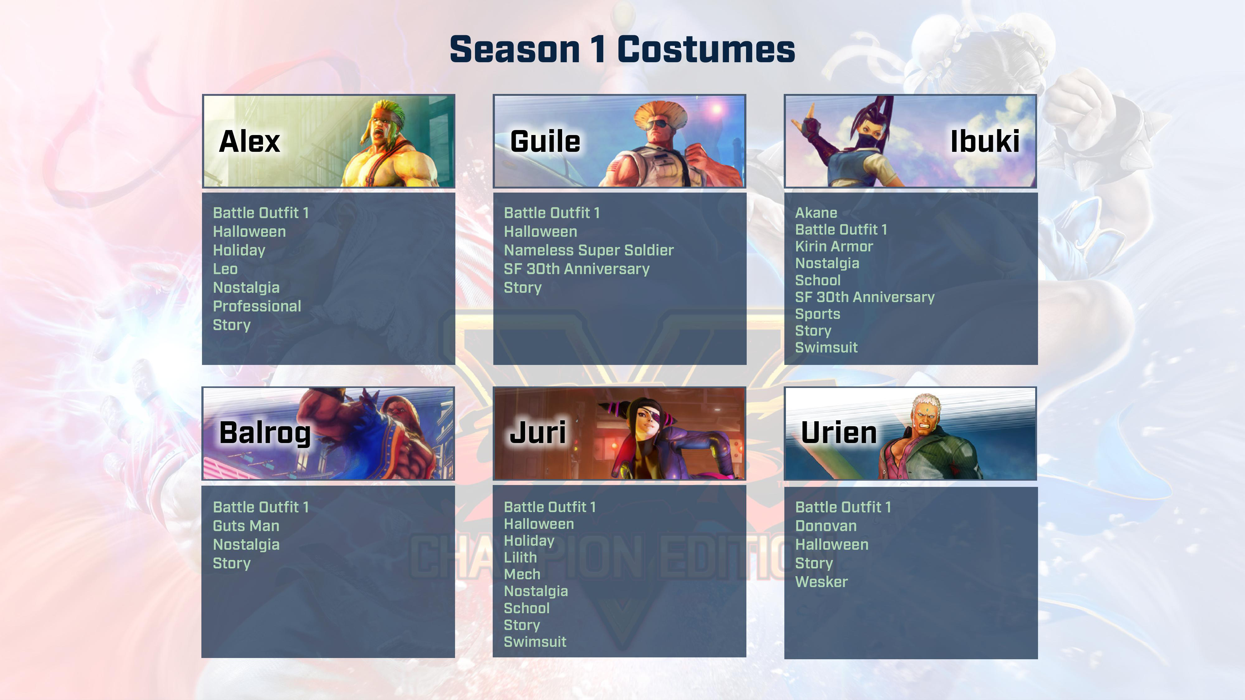 Street Fighter 5: Champion Edition contents 3 out of 9 image gallery