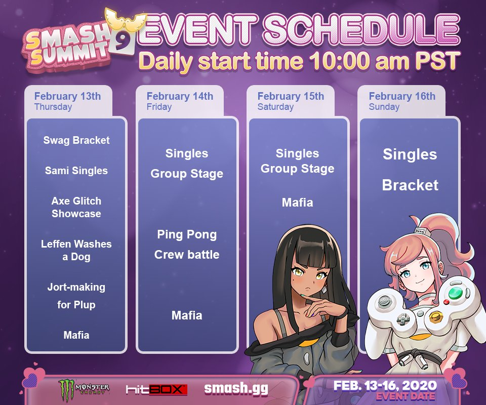 Smash Summit 9 Event Schedule 1 out of 1 image gallery