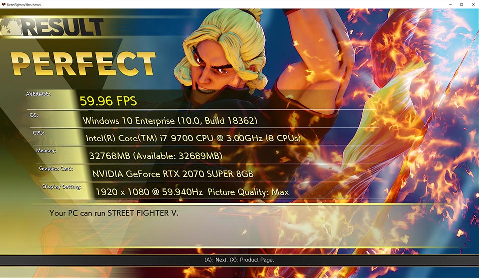 Street Fighter 5 benchmark tool 1 out of 2 image gallery
