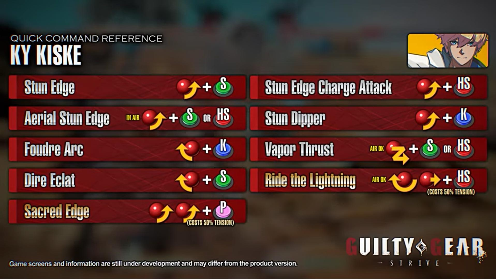 Guilty Gear Strive move lists 2 out of 2 image gallery