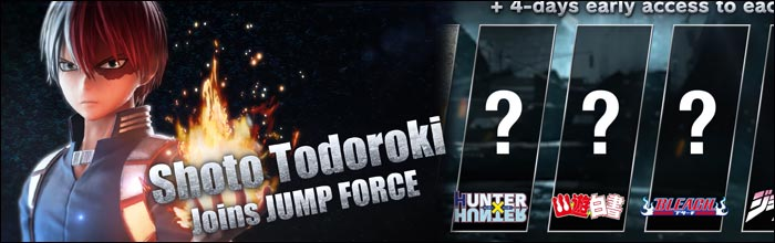 Update Jump Force Deluxe Edition Coming To Nintendo Switch Shoto Todoroki Revealed First Dlc For Character Pass 2 From My Hero Academia With Trailer
