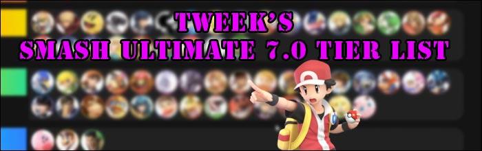 Tweek Releases His Super Smash Bros Ultimate 7 0 Tier List