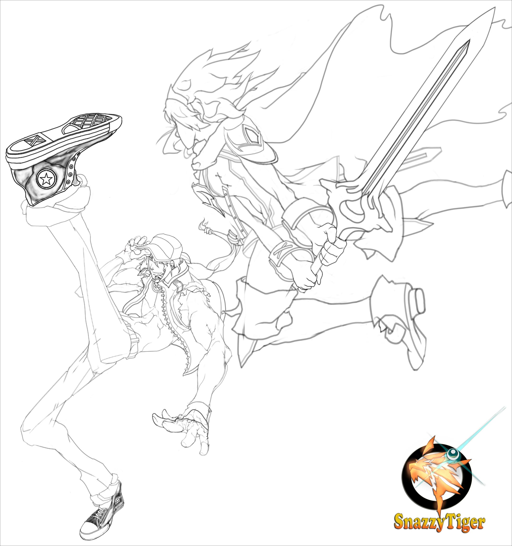 Lamar Price's fighting game sketches 4 out of 7 image gallery