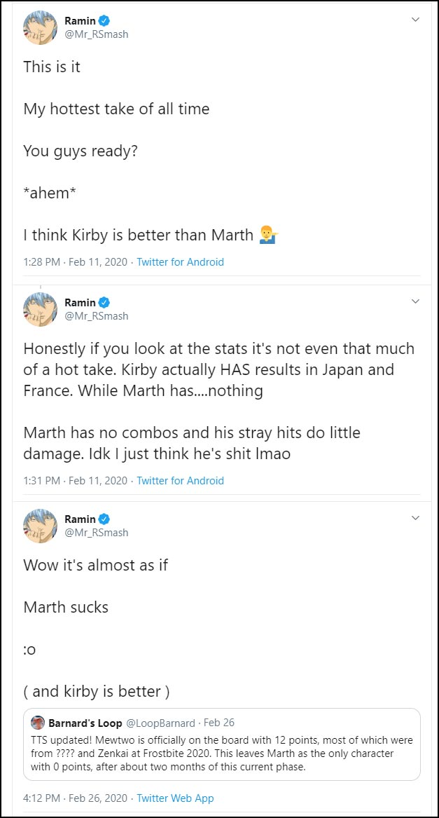 Mr. R's thoughts on Marth in Smash Ultimate 1 out of 1 image gallery