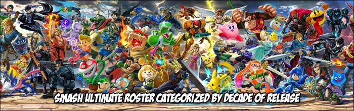 Fan Created Tier List That Categorizes Super Smash Bros Ultimate Roster By The Decade They Were Born In