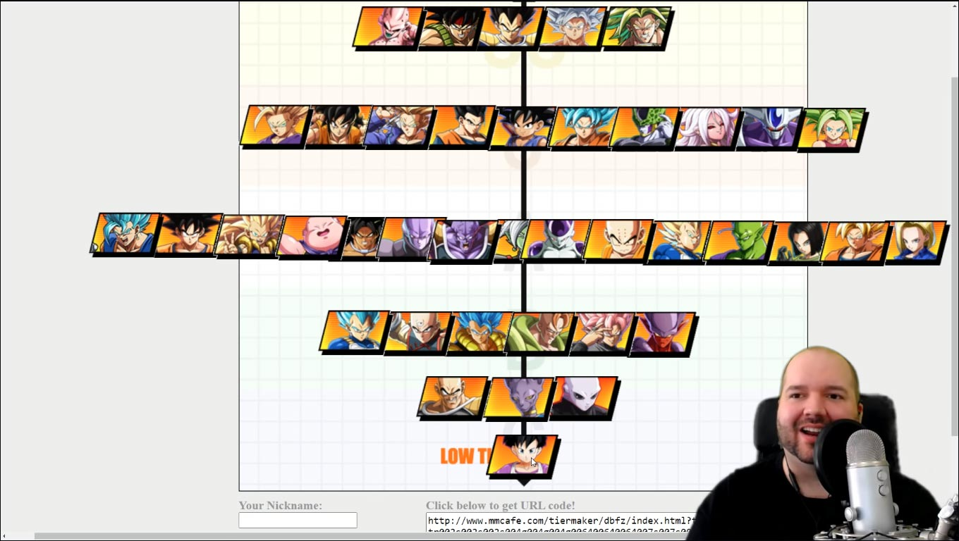 Jmcrofts' Season 3 Dragon Ball FighterZ tiers 1 out of 1 image gallery