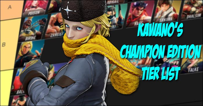 Kawano Releases Street Fighter 5 Champion Edition Tier List With