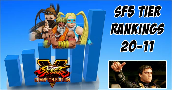 Which 10 Characters Make Up Street Fighter 5 S Upper Mid Tier In