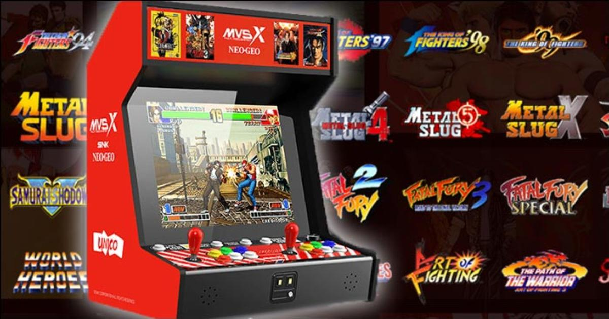 Mvsx Home Arcade Cabinet Revealed With 50 Classic Snk Titles