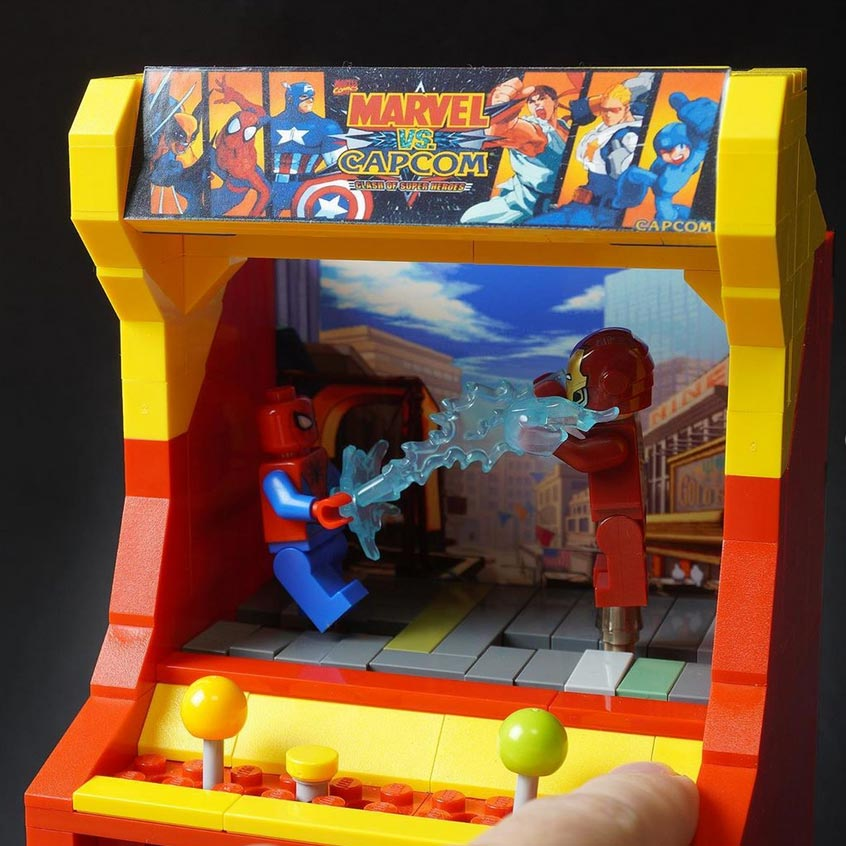 Custom Lego Street Fighter arcade 3 out of 4 image gallery