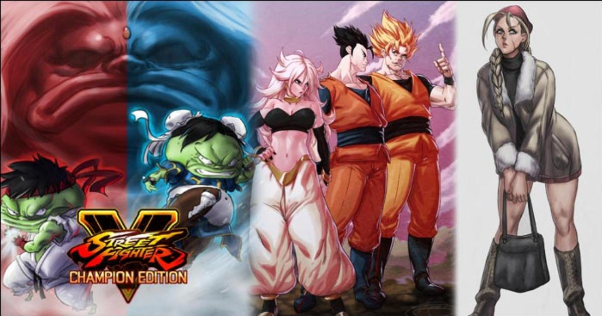 DRPotemkin's fighting game gallery features awesome depictions of Street Fighter 5 characters as frogs, Dragon Ball FighterZ, Sailor Moon and more