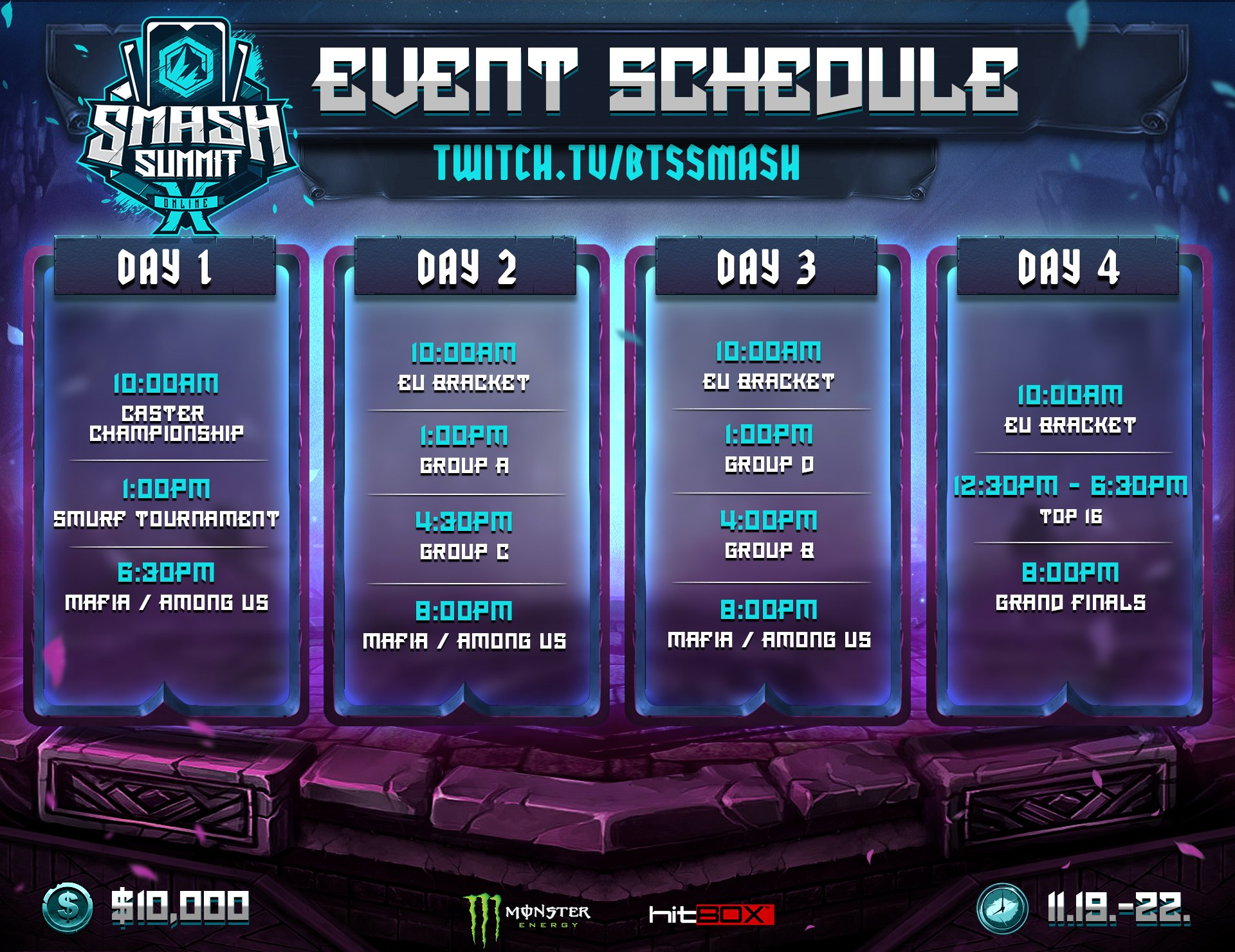 Smash Summit 10 Online Event Schedule 1 out of 1 image gallery