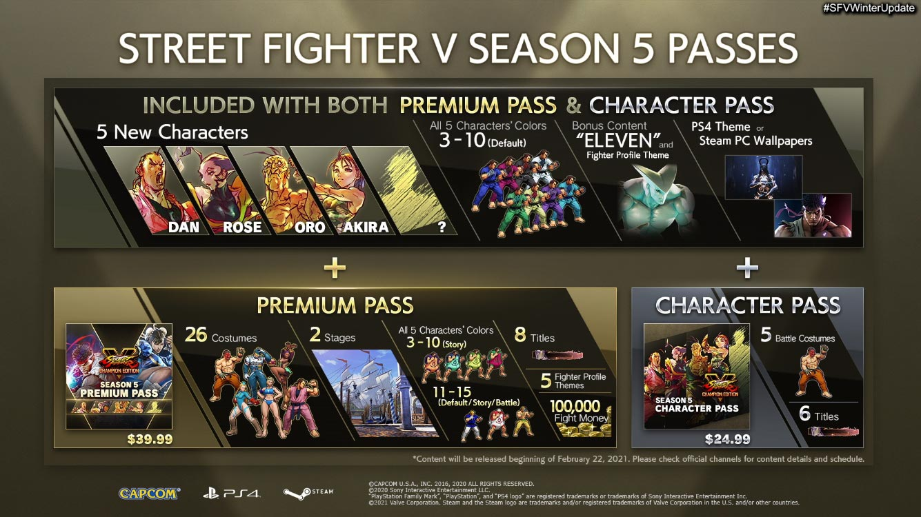 Street Fighter 5 Season 5 Eleven and DLC purchase options 1 out of 5 image gallery