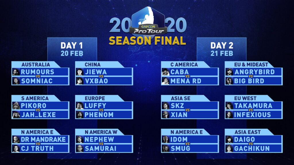 Capcom Pro Tour 2020 Season Final Fight Card 1 out of 1 image gallery