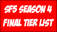 Street Fighter 5 Season 4 final tiers  out of 2 image gallery