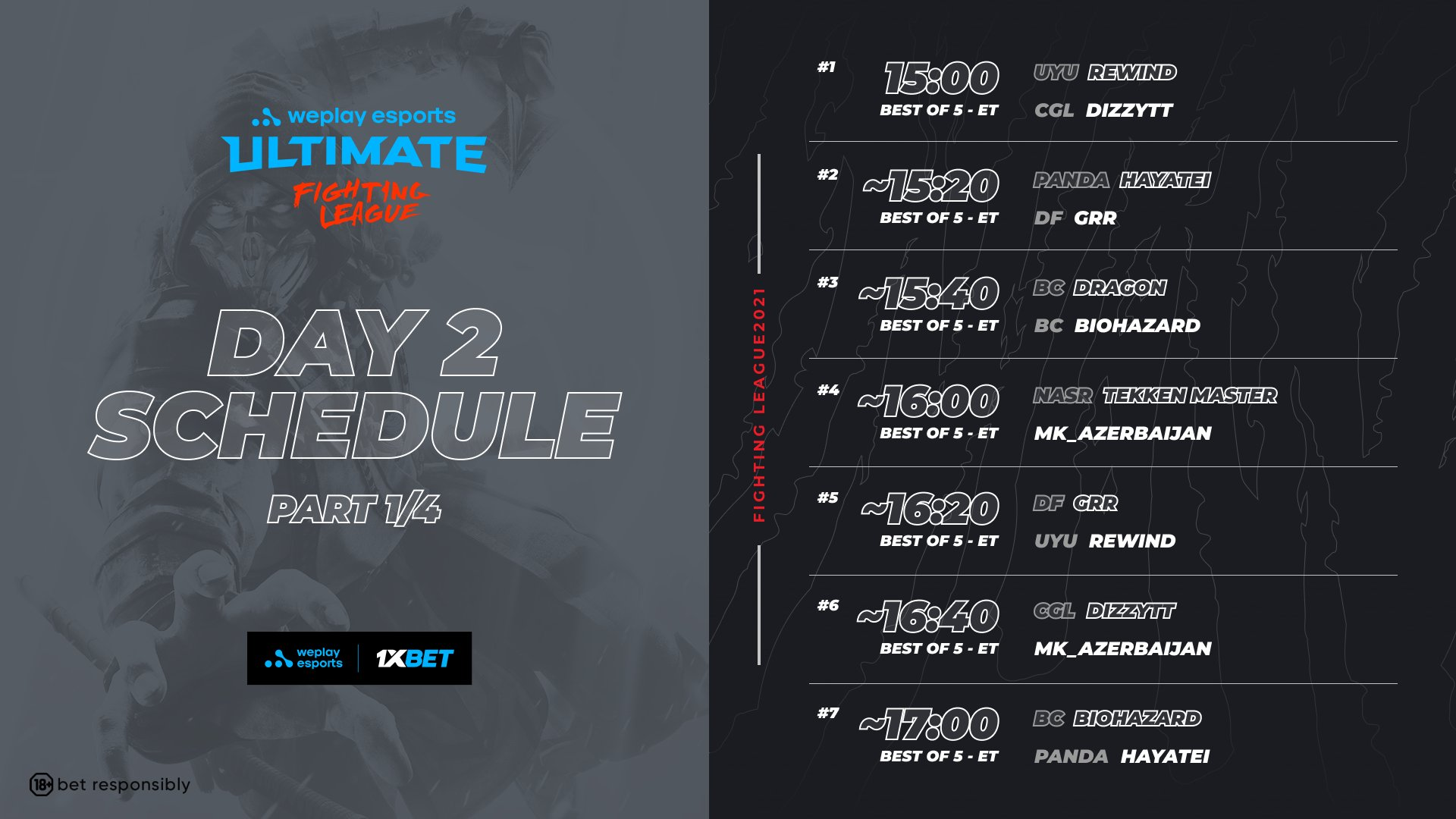 WePlay Ultimate Fighting League Season 1 Mortal Kombat Event Schedule Day 2 1 out of 4 image gallery