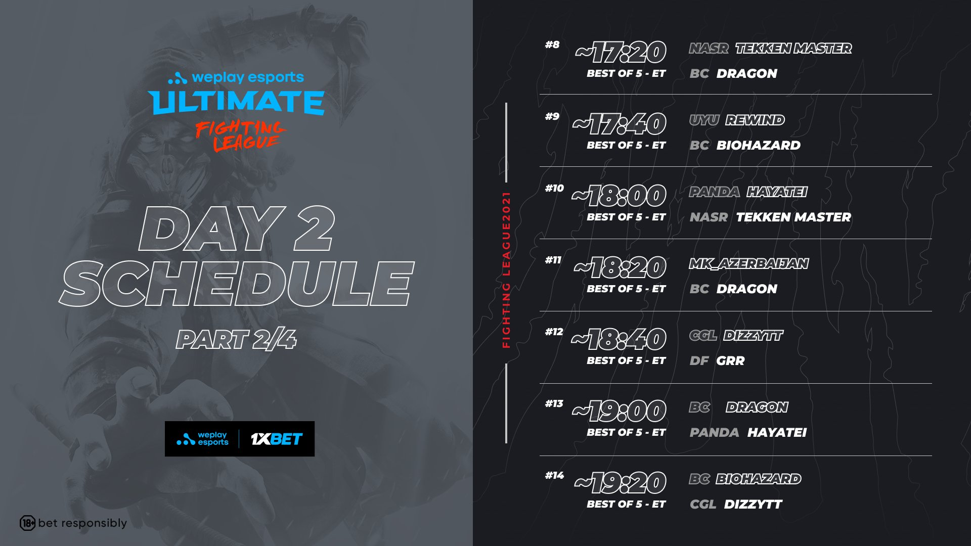 WePlay Ultimate Fighting League Season 1 Mortal Kombat Event Schedule Day 2 2 out of 4 image gallery