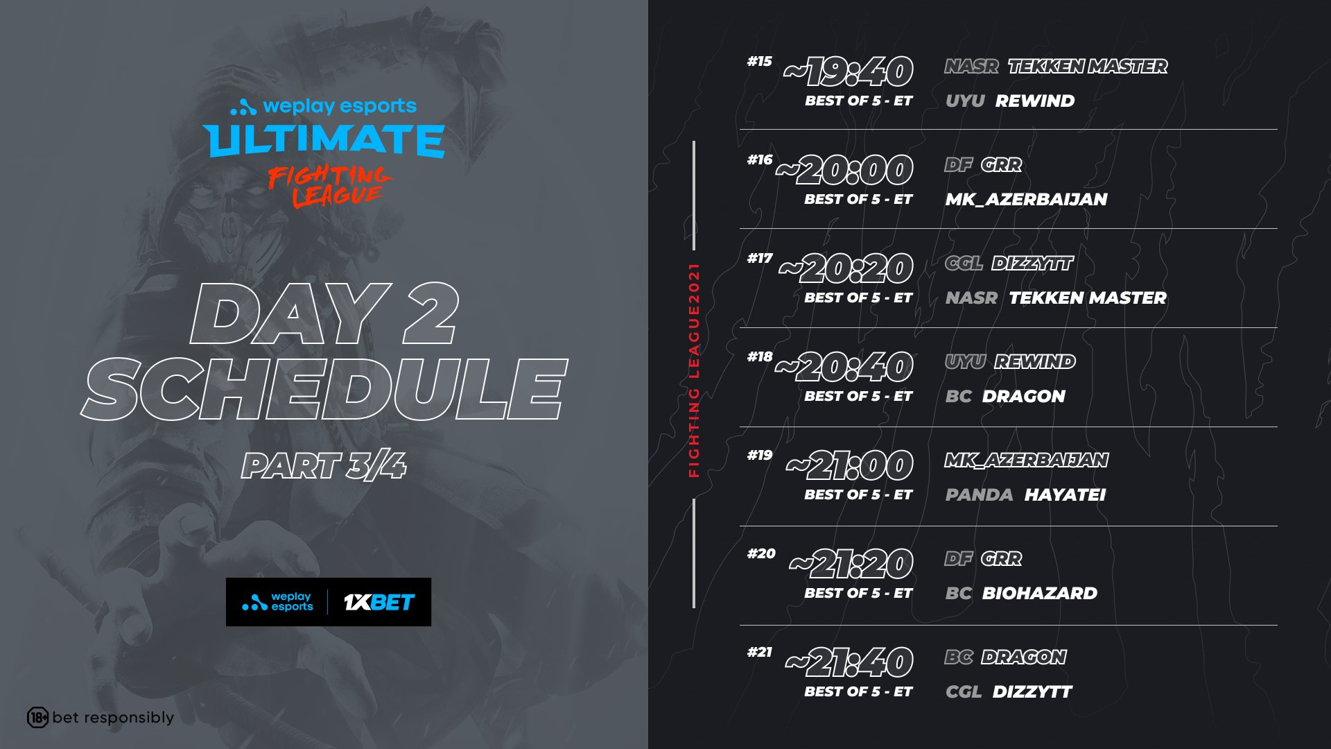 WePlay Ultimate Fighting League Season 1 Mortal Kombat Event Schedule Day 2 3 out of 4 image gallery