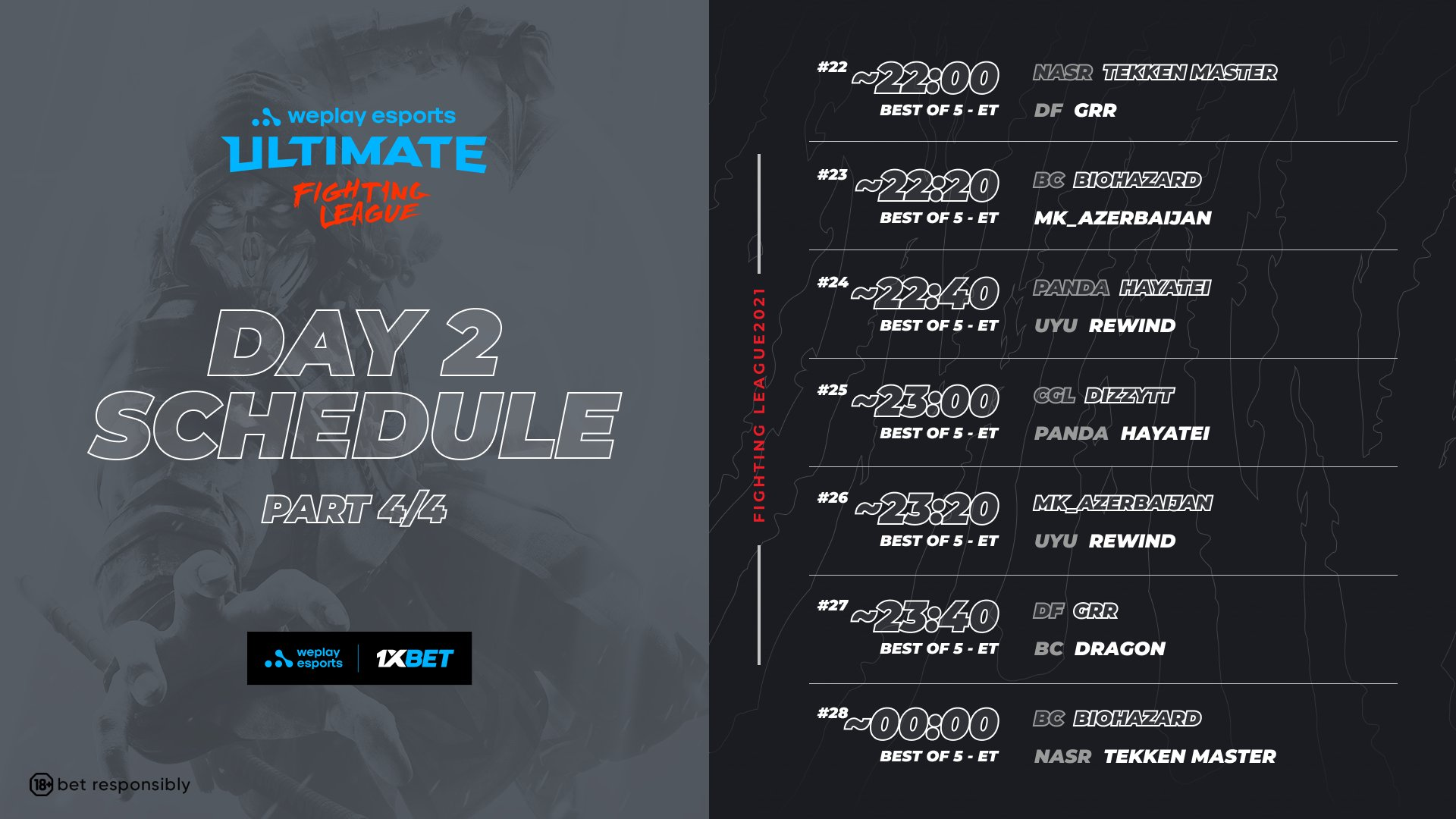WePlay Ultimate Fighting League Season 1 Mortal Kombat Event Schedule Day 2 4 out of 4 image gallery