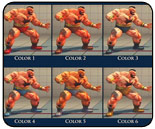 Character color guides for Street Fighter 4