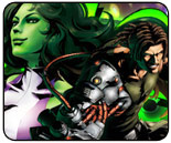 She-Hulk vs. Spencer Marvel vs. Capcom 3 showdown